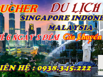 VOUCHER du lịch singapore malaysia indonesia