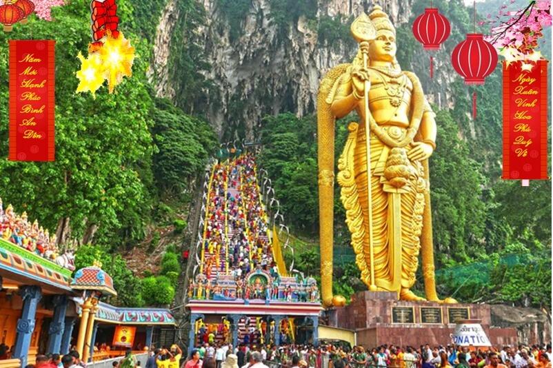 du lịch singapore malaysia tết 2020