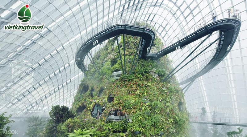 Gardens by the Bay khu nhà kính Cloud Forest