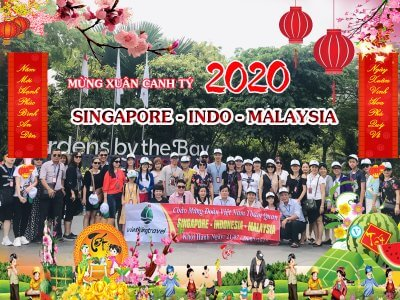 du lịch singapore indonesia malaysia tết 2020