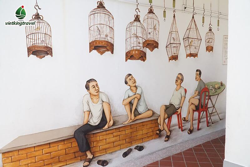 tranh tường tại khu phố Tiong Bahru