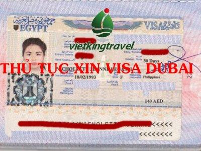thủ tục xin visa DuBai