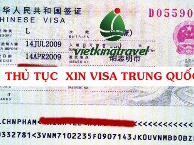 HƯỚNG DẪN THỦ TỤC LÀM VISA TRUNG QUỐC