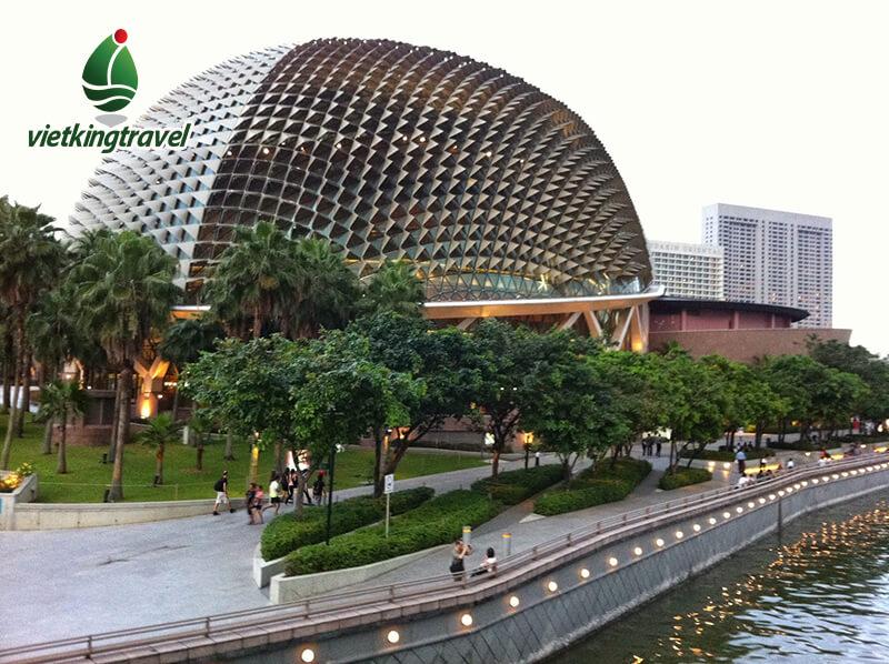 nhà hát trái sầu riêng singapore