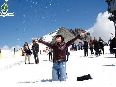 Trượt tuyết Núi Titlis Thụy Sỹ