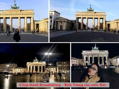 cổng thành Brandenburg biểu tượng của nước Đức