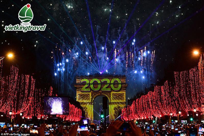Countdown Chào Đón Giao Thừa 2020 ở pháp